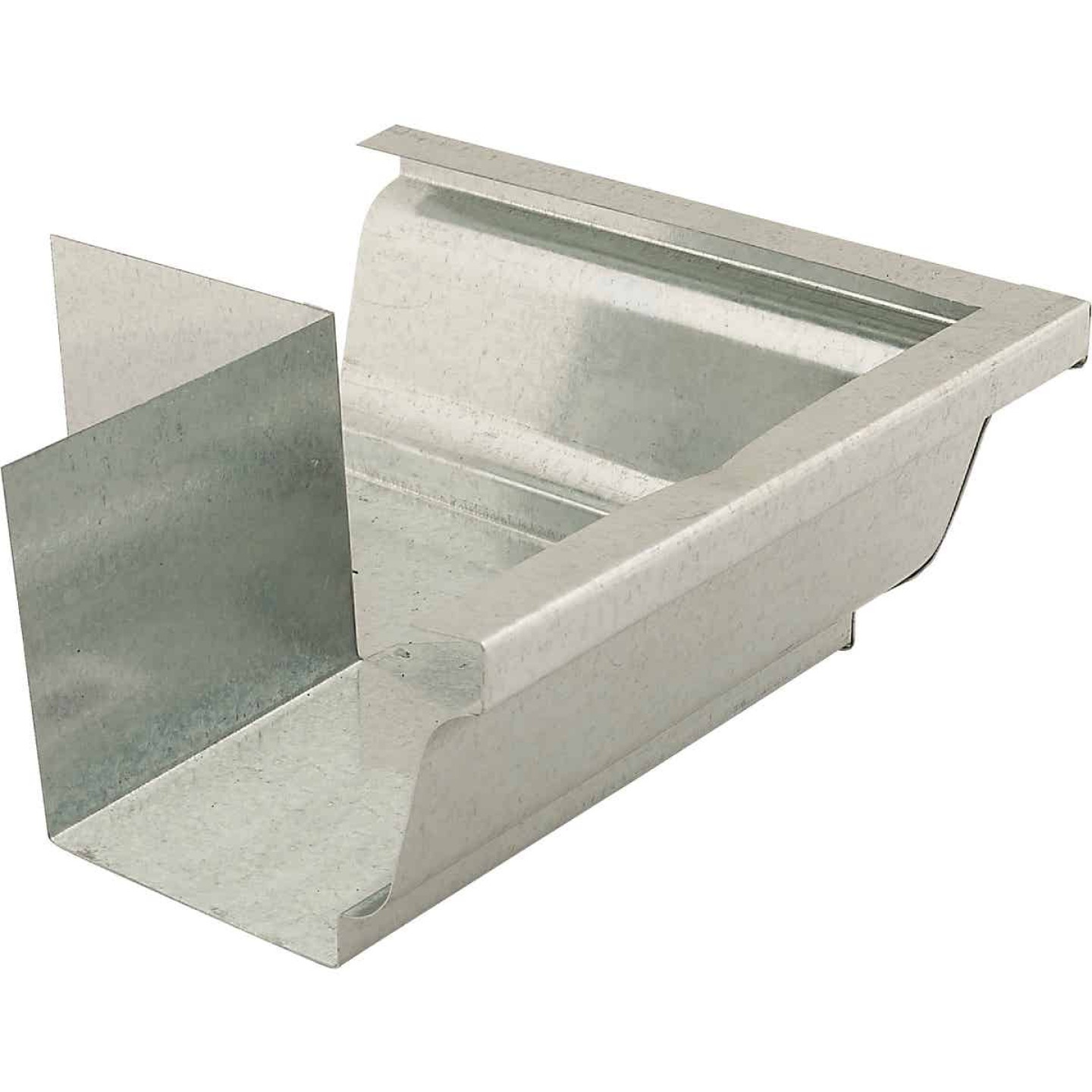 NorWesco 4 In. Galvanized Gutter Outside Corner Image 1