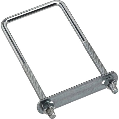 National 3/8 In. x 3 In. x 7 In. Zinc Square U Bolt