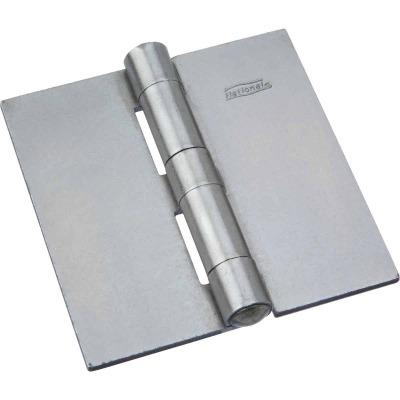 National 3-1/2 In. Square Plain Steel Weldable Door Hinge