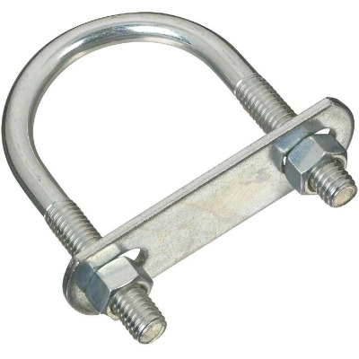 National 3/8 In. x 195 In. x 3.5 In. Zinc Round U Bolt