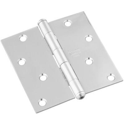 National 4 In. Square Stainless Steel Door Hinge