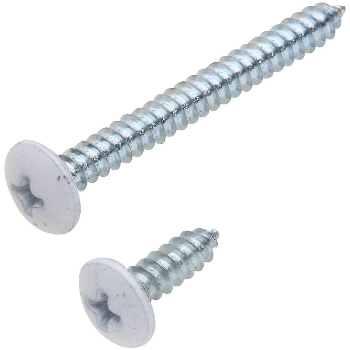 National 152 Phillips Truss Ornamental Steel Shelf Bracket Screw, Antique White (8-Count) Image 1