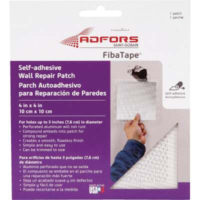 FibaTape 4 In. x 4 In. Wall & Ceiling Self-Adhesive Drywall Patch