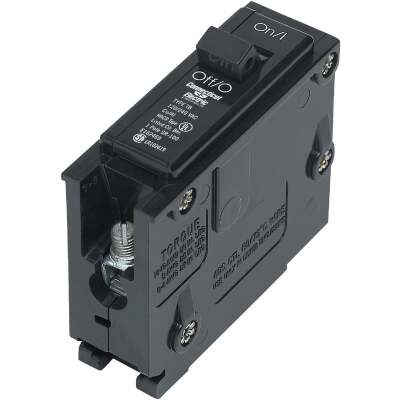 Connecticut Electric 15A Single-Pole Standard Trip Interchangeable Packaged Circuit Breaker