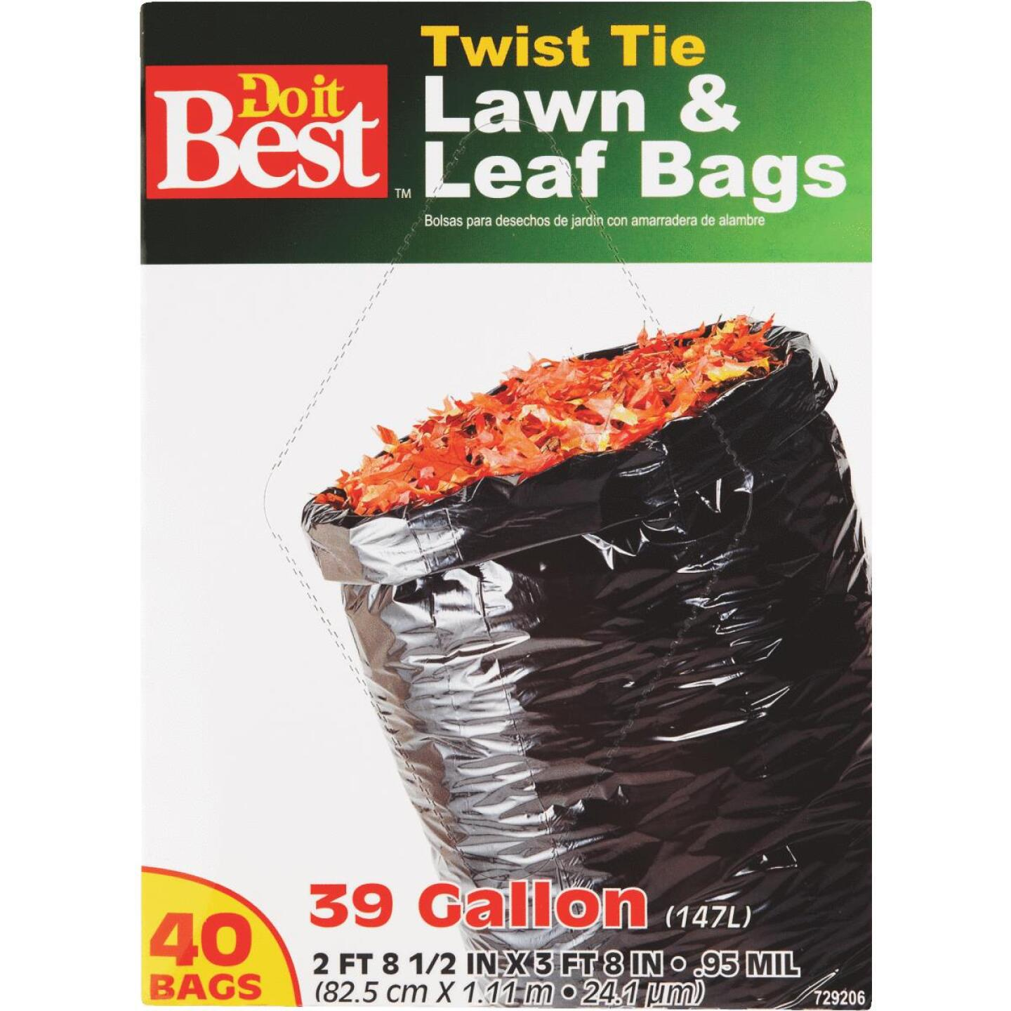 Do it Best 39 Gal. Black Flap Tie Lawn & Leaf Bag (40-Count) Image 4
