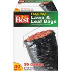 Do it Best 39 Gal. Black Flap Tie Lawn & Leaf Bag (40-Count) Image 1
