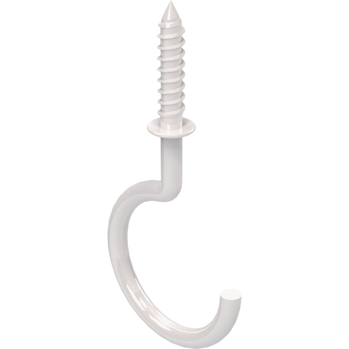 National White Vinyl-Coated Ceiling Hook (2 Pack) Image 1