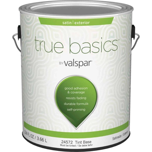 True Basics Satin Exterior House Paint, 1 Gal., Tint Base