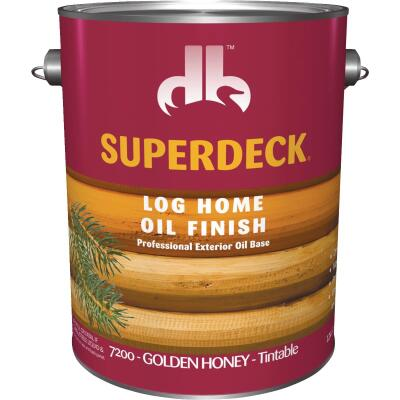 Duckback SUPERDECK VOC Translucent Log Home Oil Finish, Golden Honey, 1 Gal.
