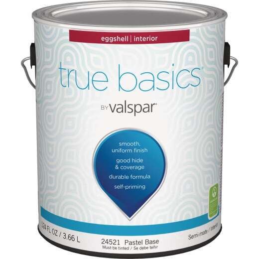 True Basics Eggshell Interior Wall Paint, 1 Gal., Pastel Base