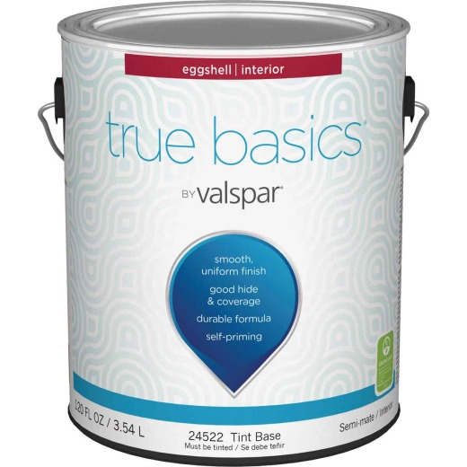 True Basics Eggshell Interior Wall Paint, 1 Gal., Tint Base